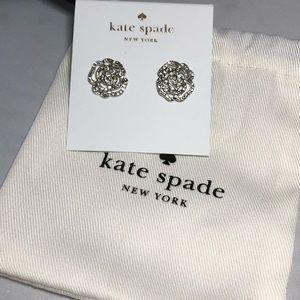 Kate Spade pave rose stud earrings